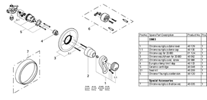 Grohe Europlus Shower Valve Replacement Parts 33 683
